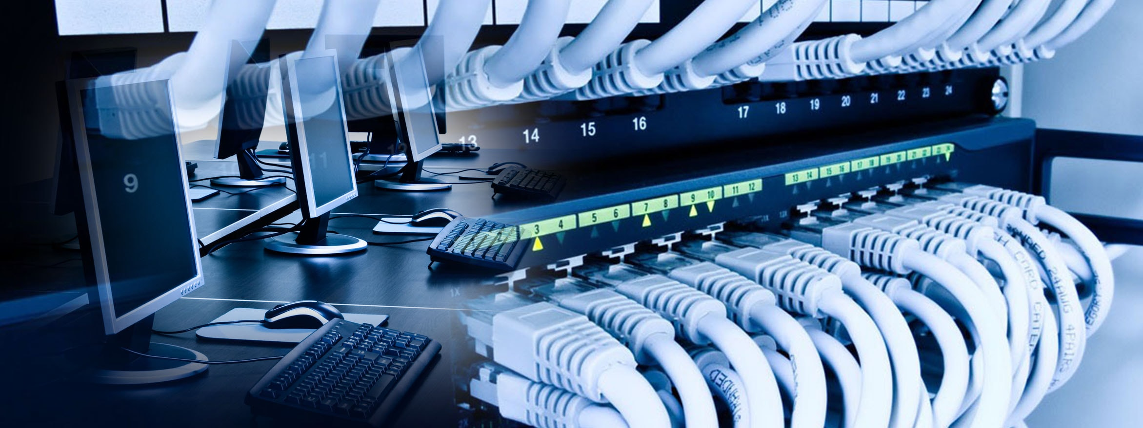 Network And Servers Whole House Structured Wiring Networking Setups Cabinets Panels